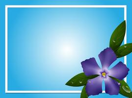 Border template with blue periwinkle flower