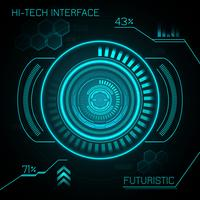 Hud Futuristic Background vector