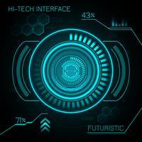Hud Futuristic Bakgrund