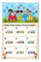 Math worksheet template for dividing