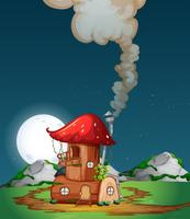 Pilzholzhaus in der Natur