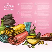 Spa Sketch Background vector