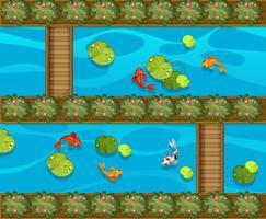 Muitos peixes na piscina