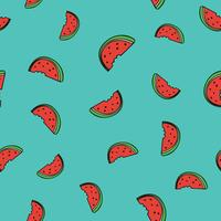 Pattern background with watermelon slice