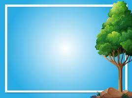 Grensmalplaatje met groene boom