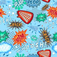 Comic Chat Seamless Pattern