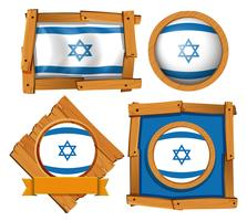 Icon design for flag of Israel vector