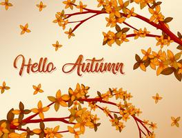 Hallo Herbsthintergrundkonzept