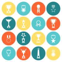 Iconos de trofeos establecidos planos