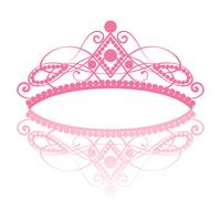 diadem. elegance feminine tiara with reflection vector
