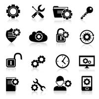 Settings icons black