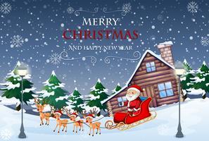 Modèle de joyeux Noël et nouvel an