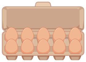 Isoliertes Ei im Karton