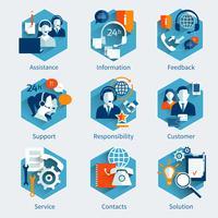 Conjunto de conceito de serviço ao cliente