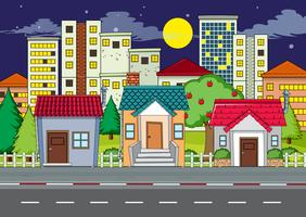 Uma cena urbana urbana plana