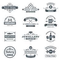 Conjunto de logotipo retrô
