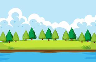 Een eenvoudig natuurlandschap