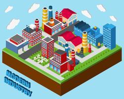 Edifícios Industriais Isométricos