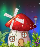Uma casa de cogumelos na natureza