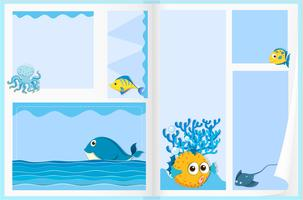 Design de papel com animais marinhos