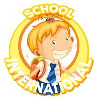 Diseño de logotipo para escuela internacional.