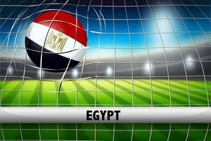 Bandera de pelota de futbol de egipto