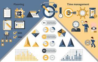 Infografica di gestione del tempo