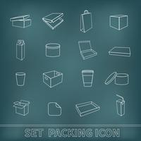 Verpakking Icons Set