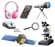 A Set of Technology Equipments vector
