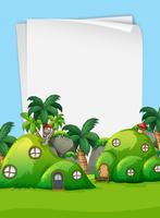 Casa mágica naturaleza frontera en blanco
