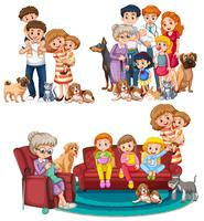 A set of big family