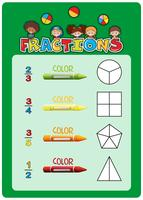 Math fractions worksheet template