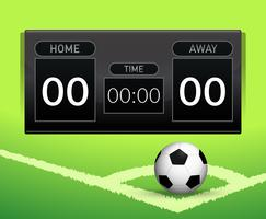 Voetbal score bord concept