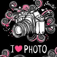 Kamera Design Schwarzer Hintergrund