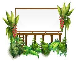Board template with green plants vector