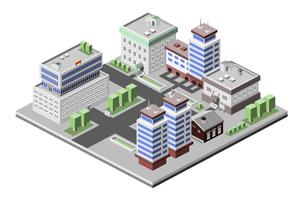 Office buildings isometric