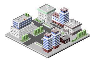 Kantoorgebouwen isometrisch