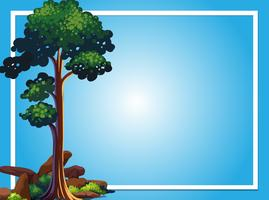 Frame template with green tree