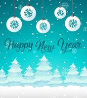 Plantilla de tarjeta de feliz año nuevo