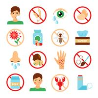 Allergie Icons Set