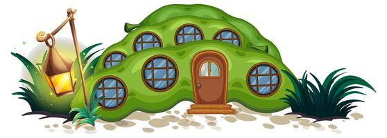 Erbsenhaus mit runden Fenstern
