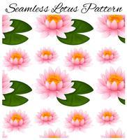 Sömlös bakgrund med lotus och löv