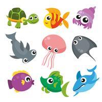 projeto de coleção de animais do oceano