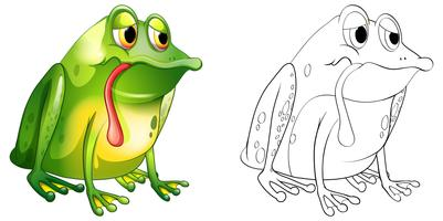 Animal outline for sad frog vector