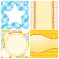 Vier verschillende achtergrondsjabloon voor papieren