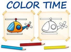 Modèle de coloration avec hélicoptère
