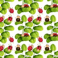 Seamless background design with ladybugs
