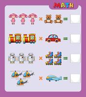 Plantilla de hoja de trabajo para una fácil multiplicación