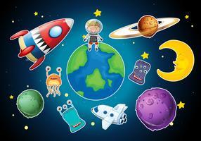 Un conjunto de elementos espaciales.