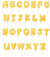 Alphabet design with yellow balloons